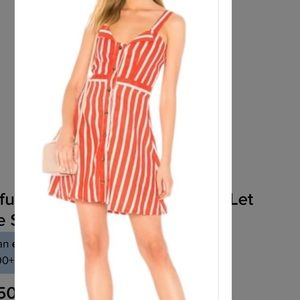 Faithfull the brand linen dress NWT